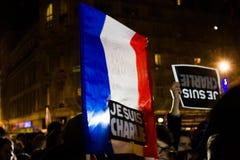Rassemblement d'unité de Charlie Hebdo Images stock
