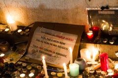 Rassemblement d'unité de Charlie Hebdo Photo stock
