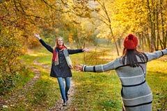 Rassemblement dans la forêt d'automne Photos libres de droits