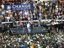 Rassemblement de Barack Obama Photographie stock libre de droits