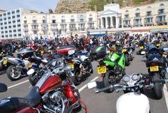 Rassemblement de cyclistes de jour de mai, Hastings photo libre de droits