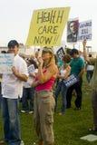 Rassemblement de défenseurs de soins de santé à Los Angeles Photo libre de droits