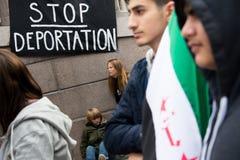 Rassemblement de droits de réfugié Photographie stock