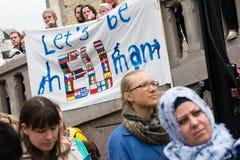 Rassemblement de droits de réfugié Image stock