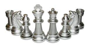 Rassemblement de famille d'échecs Photo stock