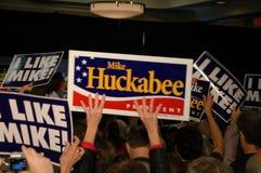 Rassemblement de Huckabee Photographie stock libre de droits