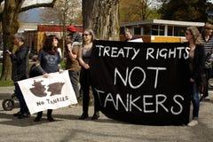 Rassemblement de jour de terre de Vancouver,   Images libres de droits