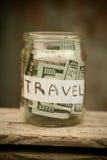 Rassemblement de l'argent pour le voyage Photo libre de droits