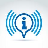 Rassemblement de l'information et icône de thème d'échange, actualités, vecteur Images libres de droits