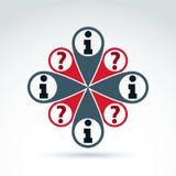 Rassemblement de l'information et icône sociaux de thème d'échange, vecteur Photos libres de droits