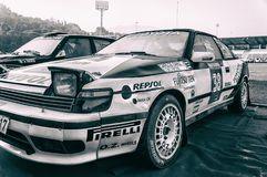 Rassemblement de la voiture de course 1988 de St 165 de TOYOTA CELICA vieux Photos libres de droits