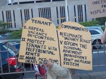 Rassemblement de locataires pour des lois plus fortes de loyer Photos libres de droits