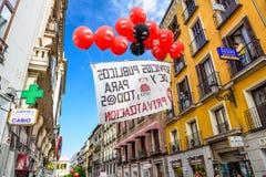 Rassemblement de Madrid Photographie stock libre de droits