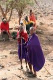 Rassemblement de masai Photographie stock libre de droits