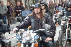 Rassemblement de moto à Wroclaw, Pologne images stock