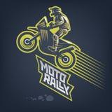Rassemblement de Moto Emblème de sport illustration stock