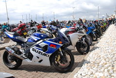 Rassemblement de moto, Hastings photos stock