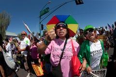 Rassemblement de protestation de l'immigration SB1070 de l'Arizona Images libres de droits