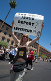 Rassemblement de protestation de l'immigration SB1070 de l'Arizona Photos libres de droits