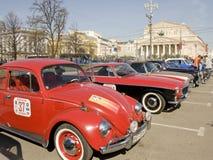 Rassemblement de rétros voitures Images libres de droits