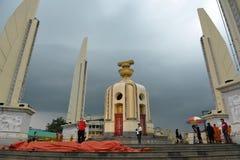Rassemblement de Rouge-Chemise à Bangkok Photo stock