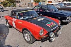 Rassemblement de sport de Fiat Abarth 124 de vintage Images libres de droits