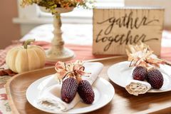 Rassemblement de thanksgiving Photo libre de droits
