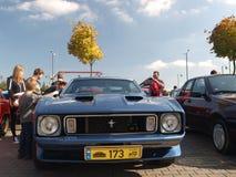 Rassemblement de vieilles voitures Images stock