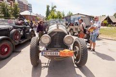 Rassemblement des rétro-voitures  Photo stock