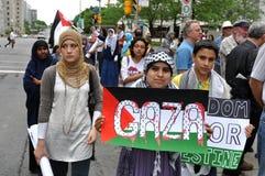 Rassemblement du l'Anti-Israël à Ottawa Photographie stock libre de droits