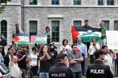 Rassemblement du l'Anti-Israël à Ottawa Image stock
