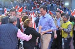 Rassemblement du parti de travailleurs socialiste espagnol (PSOE) à Gijon Photographie stock libre de droits
