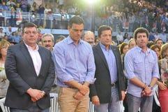 Rassemblement du parti de travailleurs socialiste espagnol (PSOE) à Gijon Photos stock