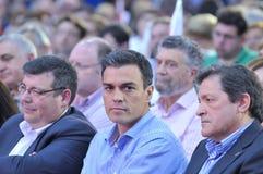 Rassemblement du parti de travailleurs socialiste espagnol (PSOE) à Gijon Photo stock