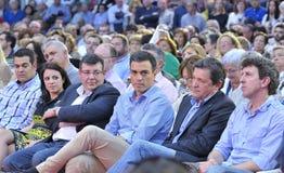 Rassemblement du parti de travailleurs socialiste espagnol (PSOE) à Gijon Photos libres de droits