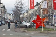 Rassemblement l'Europe de Maastricht, Pays-Bas - de Maastricht Images libres de droits