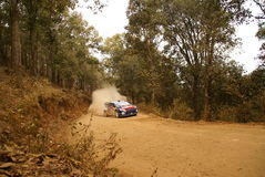 Rassemblement Mexique de corona de WRC Sébastien 2010 OGIER images libres de droits