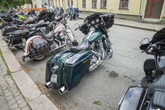 Rassemblement national Halden, Norvège 12 de PORC au 15 juin 2014 (vélos) Photographie stock