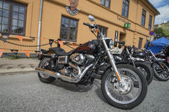 Rassemblement national Halden, Norvège 12 de PORC au 15 juin 2014 (vélos) Photo stock