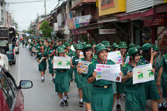 Rassemblement politique de la Thaïlande Photo libre de droits