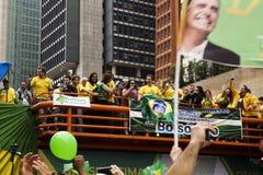 Rassemblement politique oct. de Bolsonaro 2018 image stock