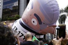 Rassemblement politique oct. de Bolsonaro 2018 images libres de droits