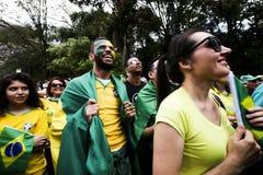 Rassemblement politique oct. de Bolsonaro 2018 images stock
