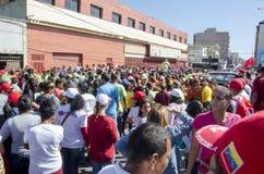 Rassemblement politique vénézuélien de la partie de gouvernement de PSUV image libre de droits