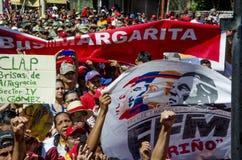 Rassemblement politique vénézuélien de la partie de gouvernement de PSUV images libres de droits