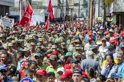 Rassemblement politique vénézuélien de la partie de gouvernement de PSUV photo stock