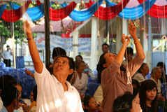 Rassemblement religieux Photo libre de droits