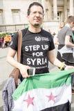 Rassemblement syrien dans Trafalgar Square pour soutenir des médecins sous le feu Photographie stock libre de droits