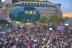 Rassemblements thaïlandais contre la facture d'amnistie Photographie stock libre de droits