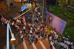 Rassemblements thaïlandais contre la facture d'amnistie Photographie stock